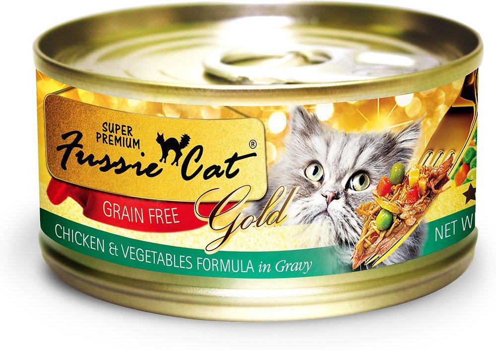 Fussie Cat Super Premium Grain-Free Chicken & Vegetables Formula in Gravy Canned Cat Food 2.8z, 24