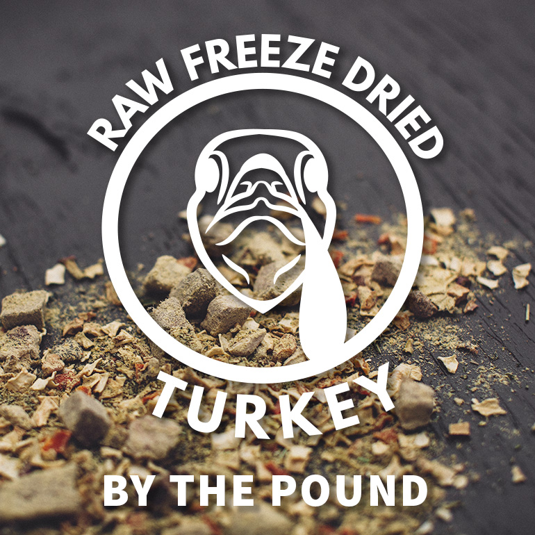 DOG Naked Raw Turkey Freeze Dried Food By the Pound Grain-Free