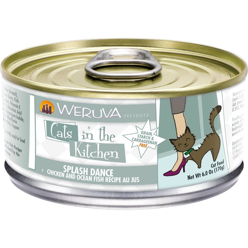 Weruva Cats in the Kitchen 'Splash Dance' Chicken & Ocean Fish Au Jus Canned Cat Food 6z, 24