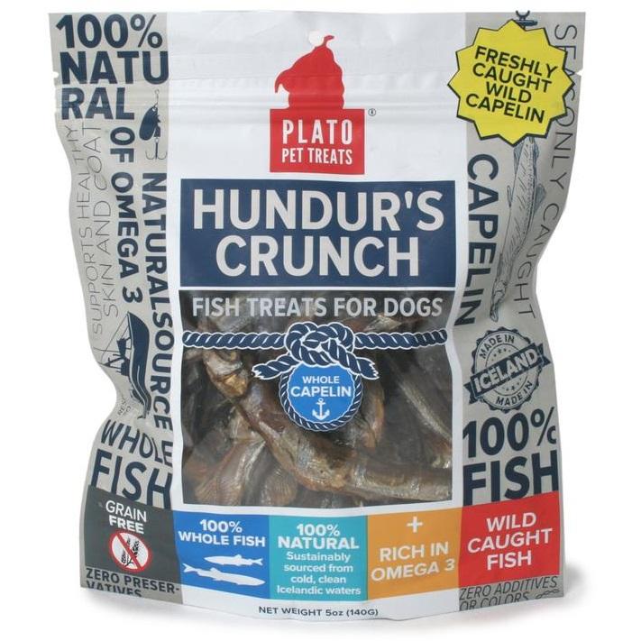 Plato Hundur's Crunch Whole Capelin Fish Dog Treats 5z