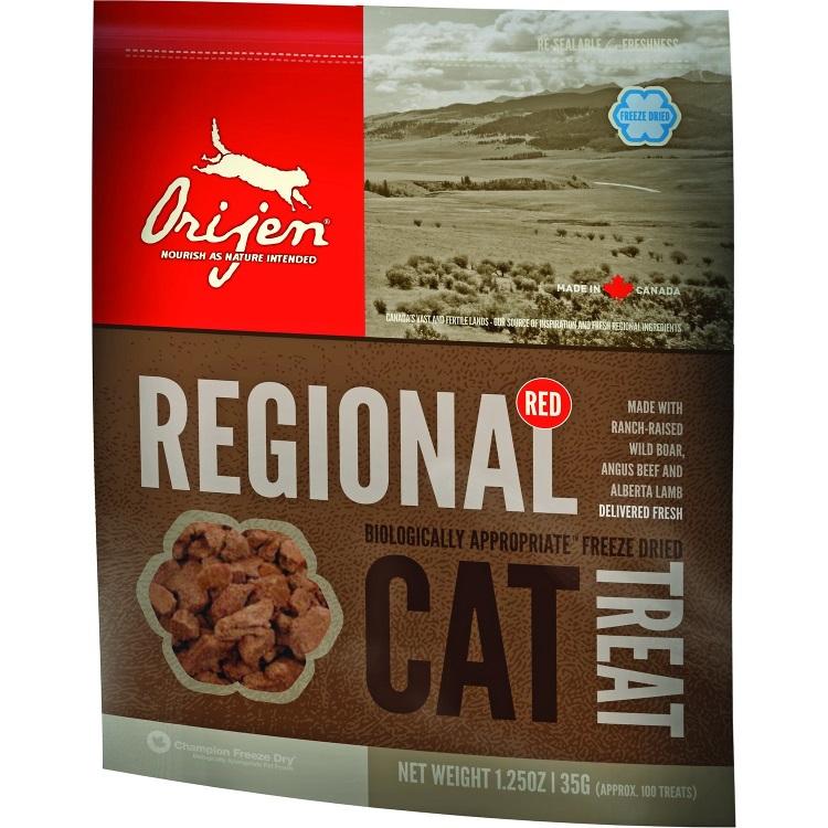 Orijen Grain-Free Regional Red Freeze Dried Cat Treats 1.25z