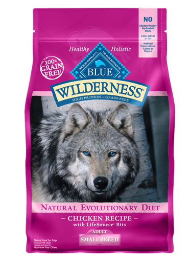 Blue Buffalo Wilderness Small Breed Chicken Recipe Grain-Free Dry Dog Food 4.5lbs