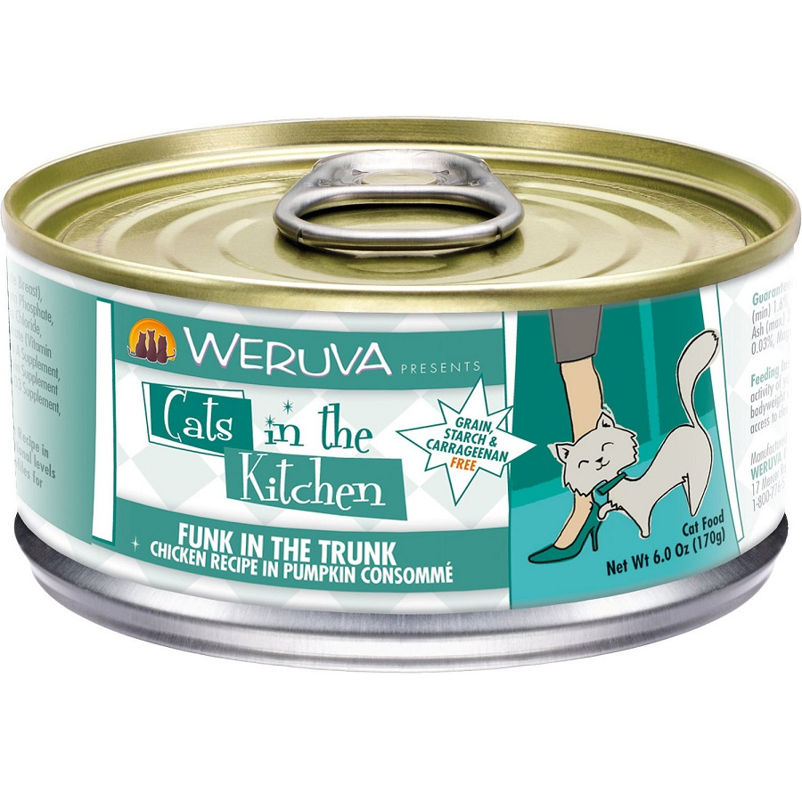 Weruva Cats in the Kitchen 'Funk In The Trunk' Chicken in Pumpkin Consomme Canned Cat Food 6z, 24