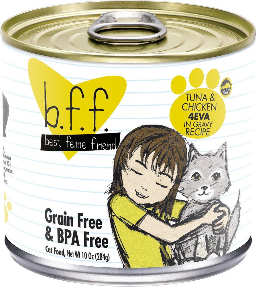 Weruva BFF Grain-Free Tuna & Chicken 4EVA Recipe in Gravy Canned Cat Food 10z, 12