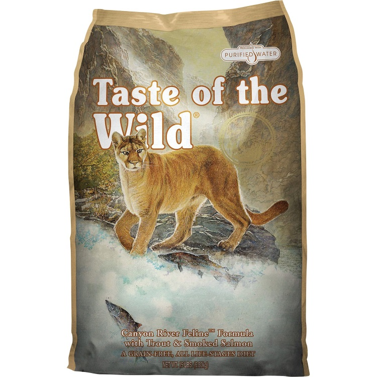 Taste of the Wild Canyon River Grain-Free Dry Cat Food 15lbs
