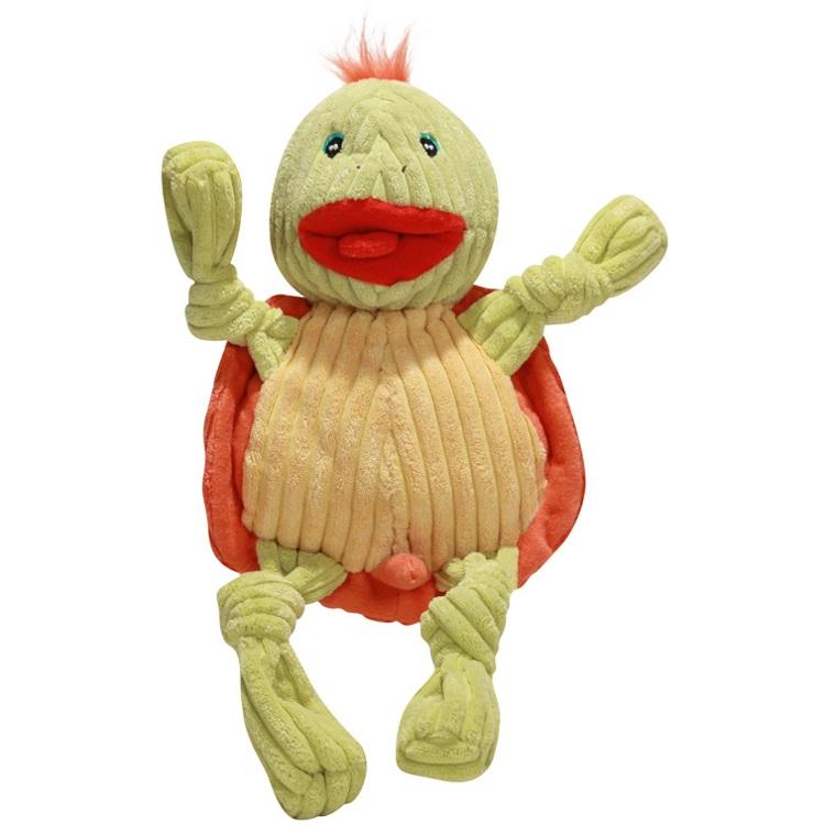 HuggleHounds Plush Knotties Turtle Large Dog Toy
