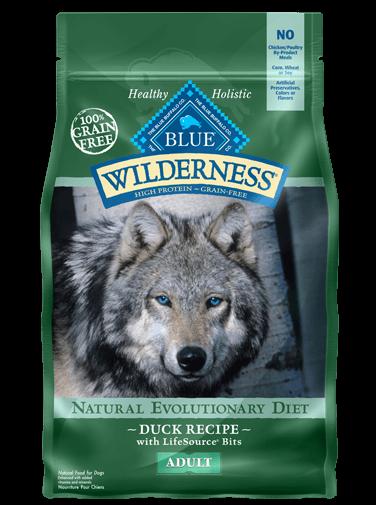 Blue Buffalo Wilderness Duck Recipe Grain-Free Dry Dog Food 24lbs