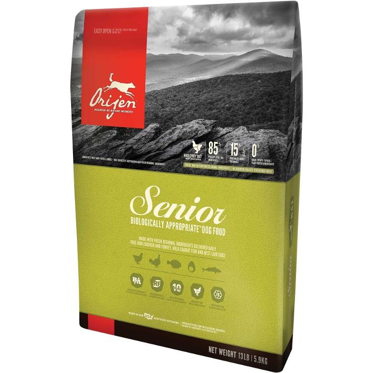 Orijen Senior Grain-Free Dry Dog Food 13lbs