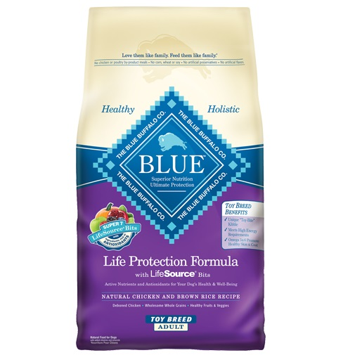 Blue Buffalo Life Protection Formula Toy Breed Adult Chicken & Brown Rice Recipe Dry Dog Food 4lbs o