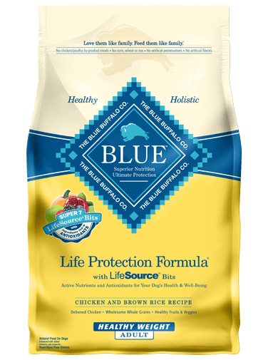 Blue Buffalo Life Protection Formula Healthy Weight Adult Chicken & Brown Rice Recipe Dry Dog Food 30lbs