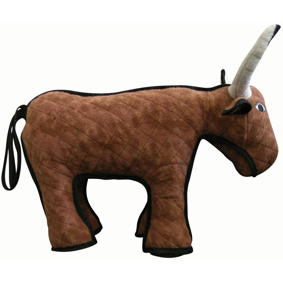 Tuffy Barnyard Bull Dog Toy