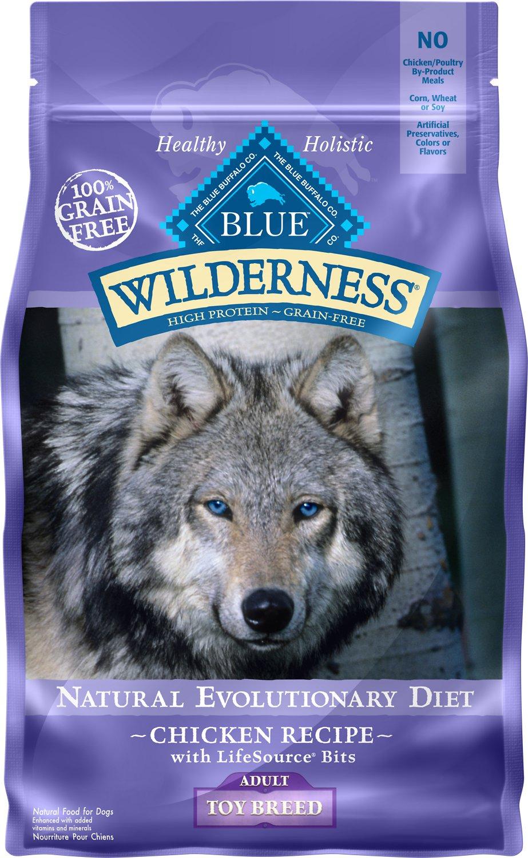 Blue Buffalo Wilderness Toy Breed Adult Chicken Recipe Grain-Free Dry Dog Food 4lbs