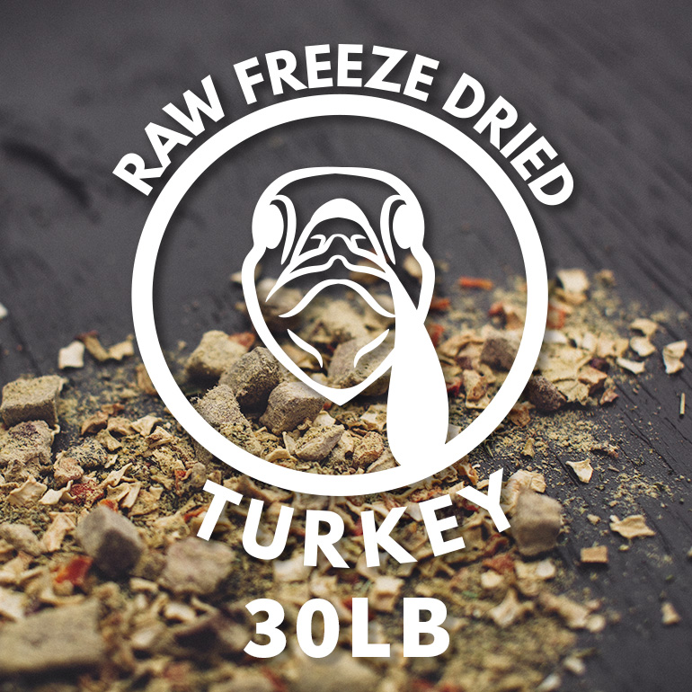 Naked Grain-Free Raw Turkey Dinner Freeze Dried Dog Food 30lbs