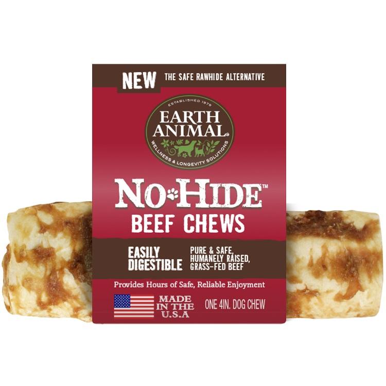 Earth Animal No Hide Beef Chews Dog Treat 4'', 24