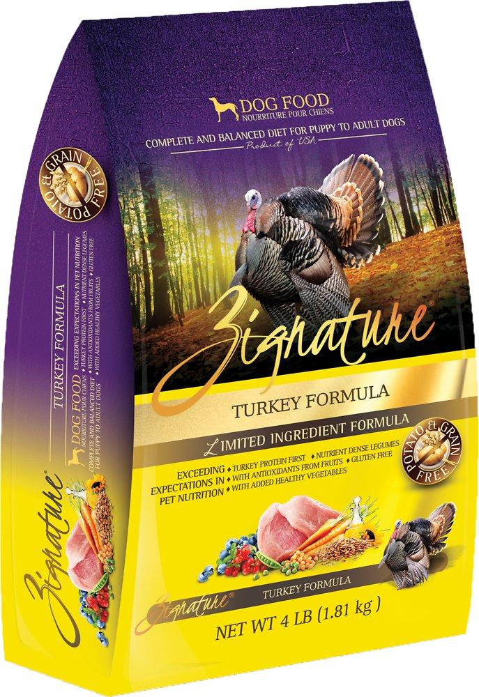 Zignature Grain-Free Turkey Limited Ingredient Formula Dry Dog Food 4lbs