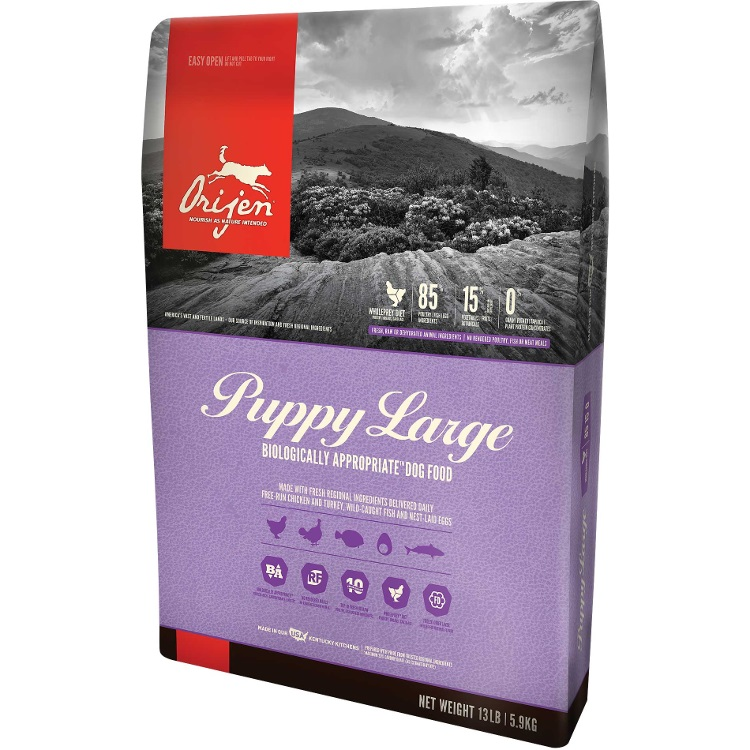 Orijen Puppy Large Breed Grain-Free Dry Dog Food 13lbs
