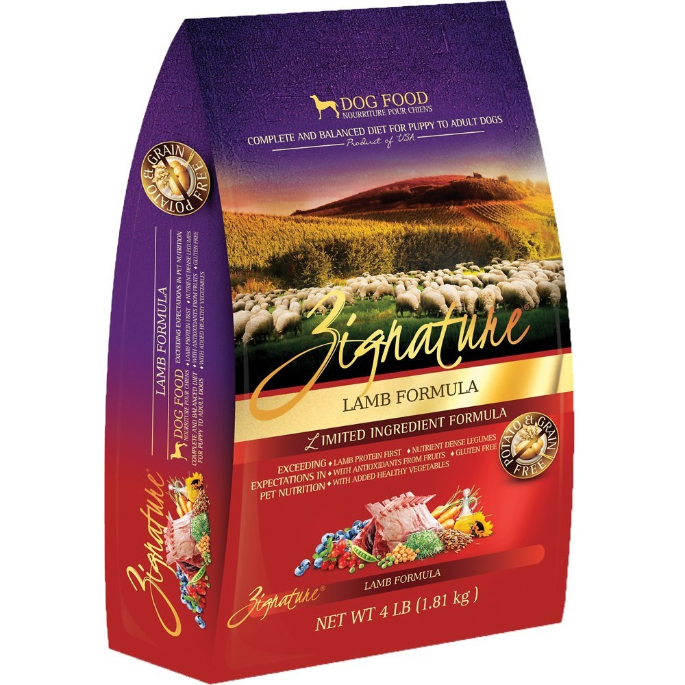 Zignature Grain-Free Lamb Limited Ingredient Formula Dry Dog Food 4lbs