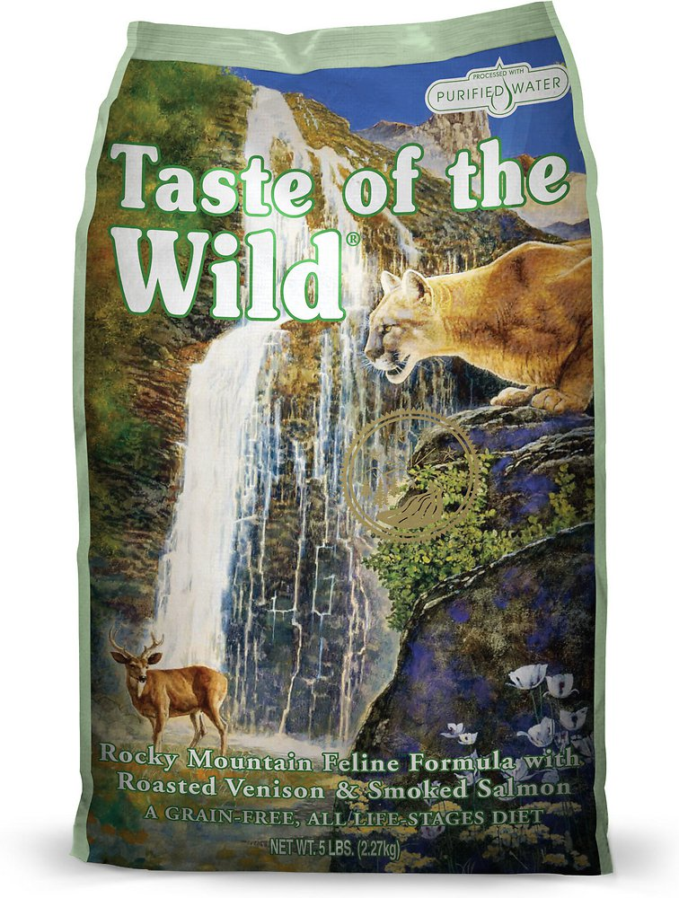 Taste of the Wild Rocky Mountain Grain-Free Dry Cat Food 5lbs