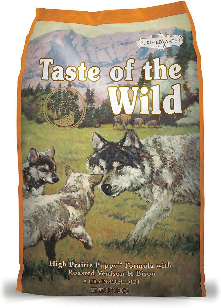 Taste of the Wild High Prairie Puppy Formula Dry Dog Food 15lbs