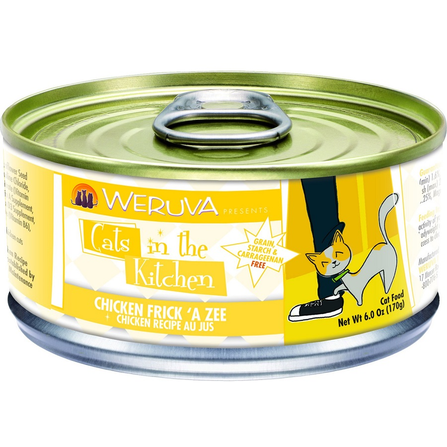 Weruva Cats in the Kitchen 'Frick 'A Zee' Chicken Au Jus Canned Cat Food 6z, 24