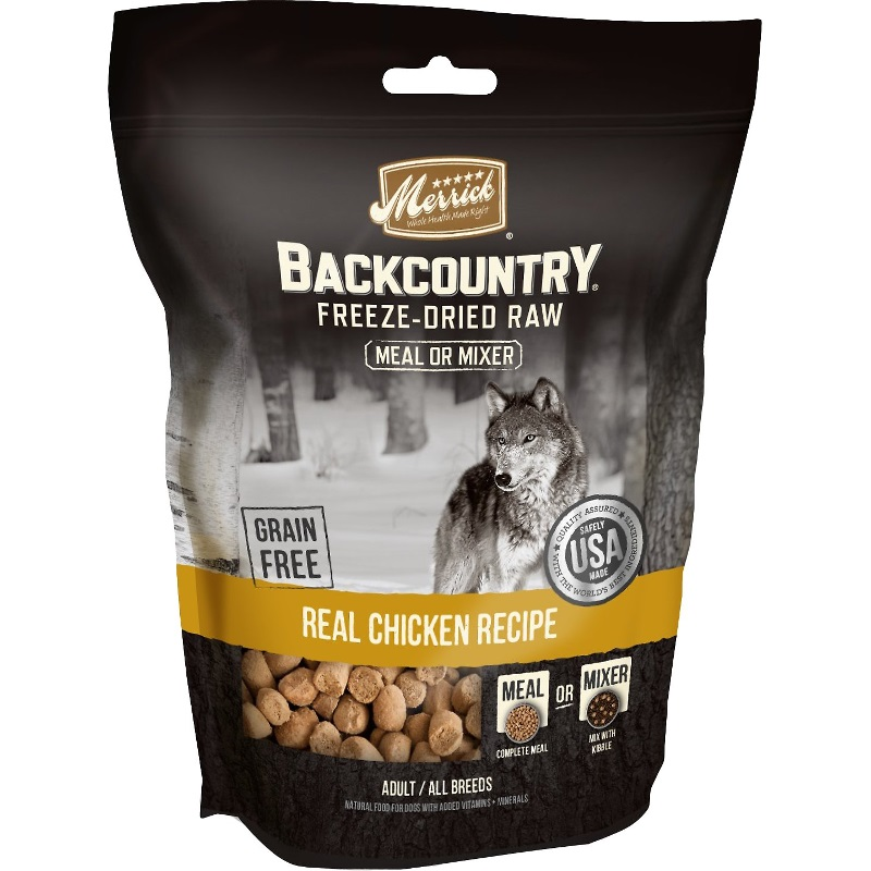 Merrick Backcountry Real Chicken Recipe Grain-Free Freeze-Dried Dog Food 12.5z