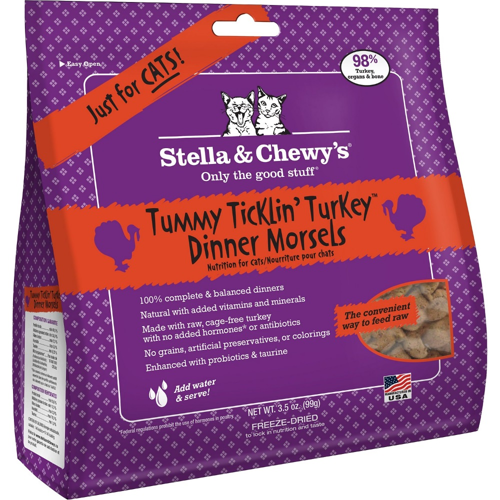 Stella & Chewy's Tummy Ticklin' Turkey Dinner Raw Freeze Dried Cat Food 3.5z