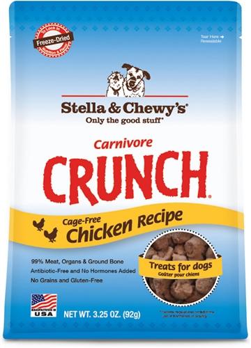Stella & Chewy's Carnivore Crunch Cage-Free Chicken Dog Treats 3.25z