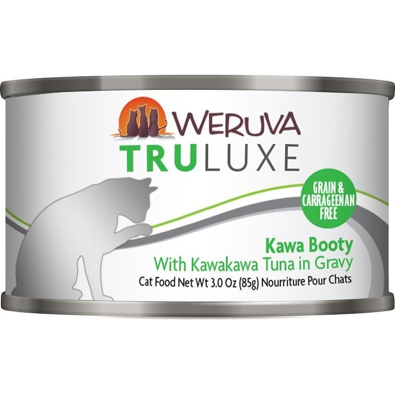 Weruva Truluxe Grain-Free Kawa Booty with Kawakawa Tuna in Gravy Canned Cat Food 3z, 24
