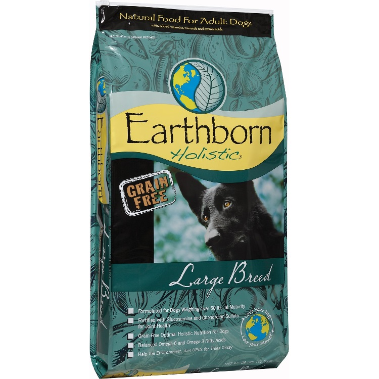 Earthborn Holistic Large Breed Grain-Free Dry Dog Food 28lbs
