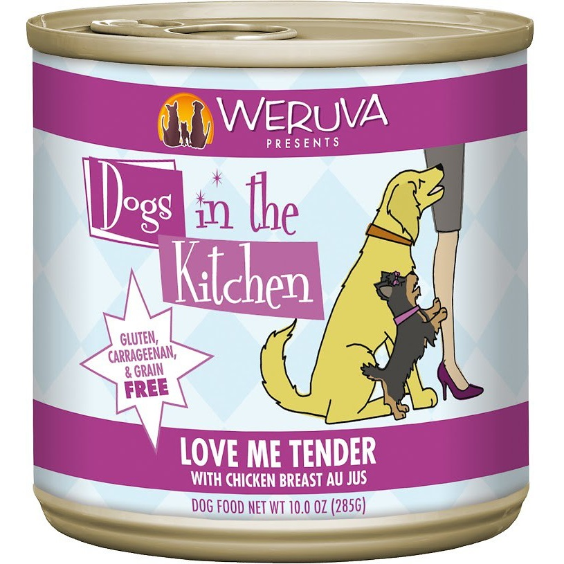 Weruva Dogs in the Kitchen 'Love Me Tender' Chicken Breast Au Jus Canned Dog Food 10z, 12
