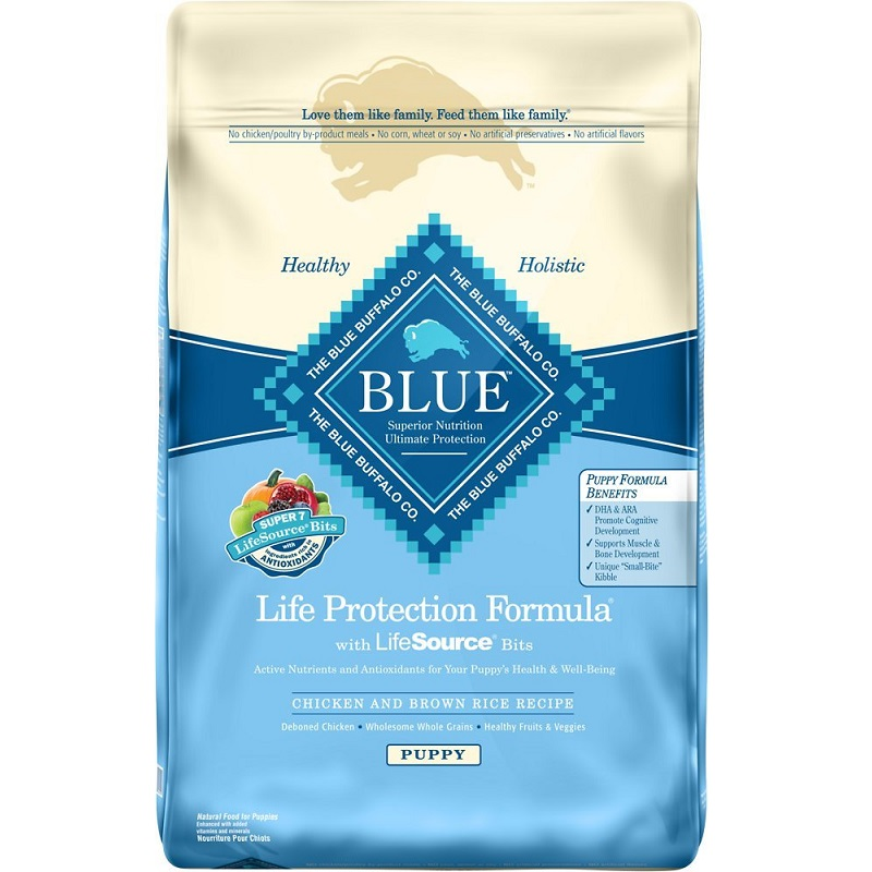 Blue Buffalo Life Protection Formula Puppy Chicken & Brown Rice Recipe Dry Dog Food 6lb