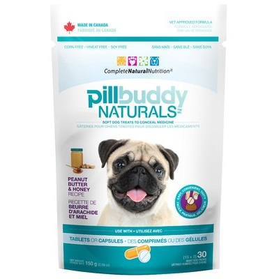Pill Buddy Naturals - Peanut Butter & Honey Recipe Pill / Capsule Treats for Dogs 150g