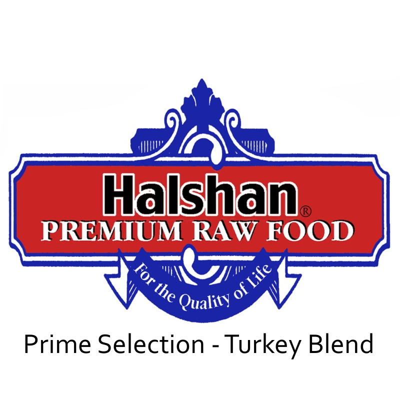Halshan Prime Selection Turkey Blend Raw Frozen Dog Food 1lbs