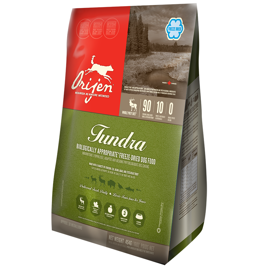 Orijen Tundra Freeze Dried Dog Food 1lbs
