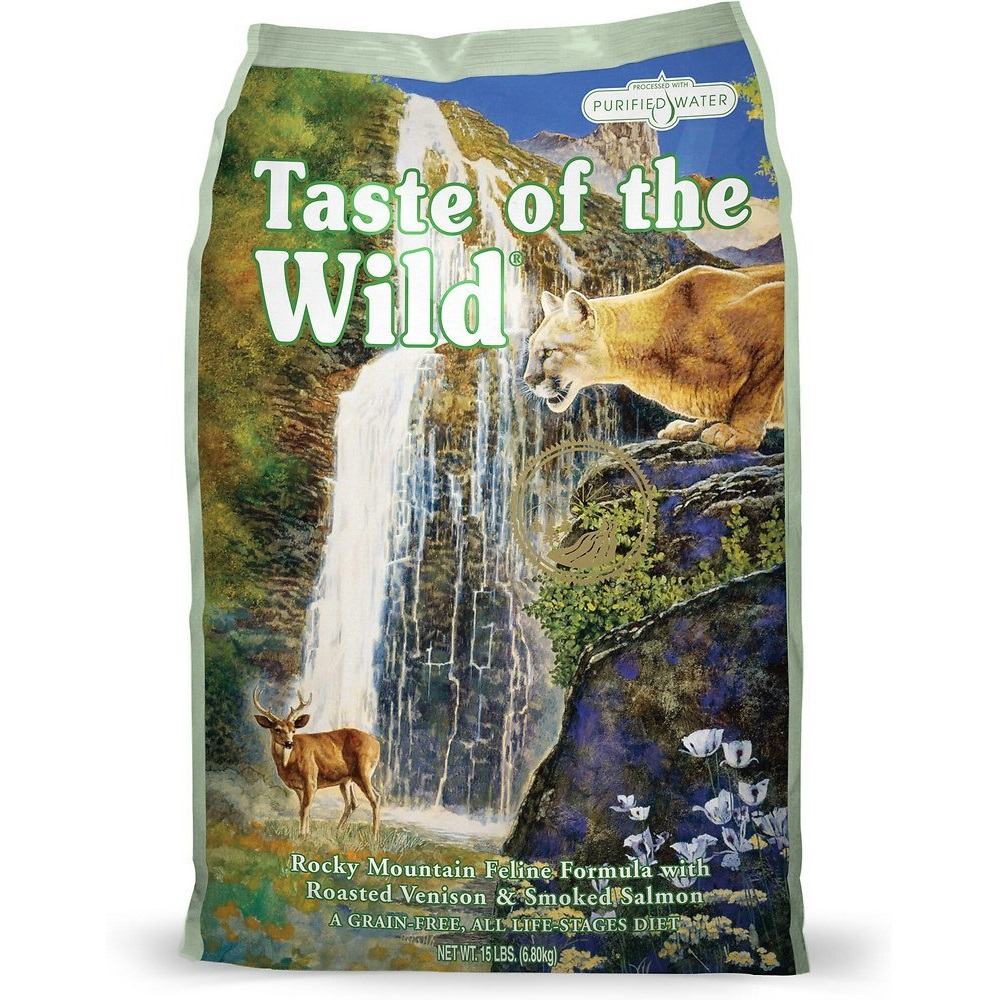 Taste of the Wild Rocky Mountain Grain-Free Dry Cat Food 15lbs