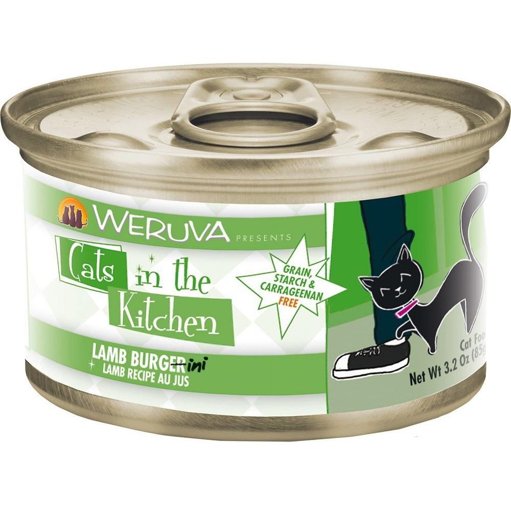 Weruva Cats in the Kitchen 'Lamb Burgini' Lamb Au Jus Grain-Free Canned Cat Food 3.2z, 24