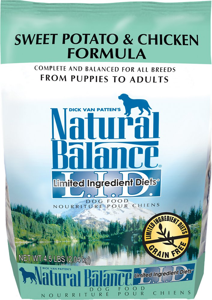 Natural Balance L.I.D. Limited Ingredient Diets Sweet Potato & Chicken Formula Dry Dog Food 4.5lbs