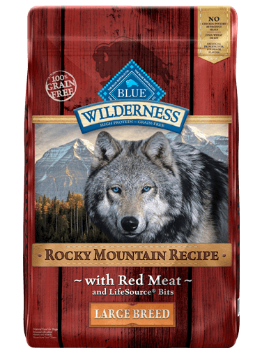 Blue Buffalo Wilderness Rocky Mountain Recipe with Red Meat Large Breed Grain-Free Dry Dog Food 22lbs