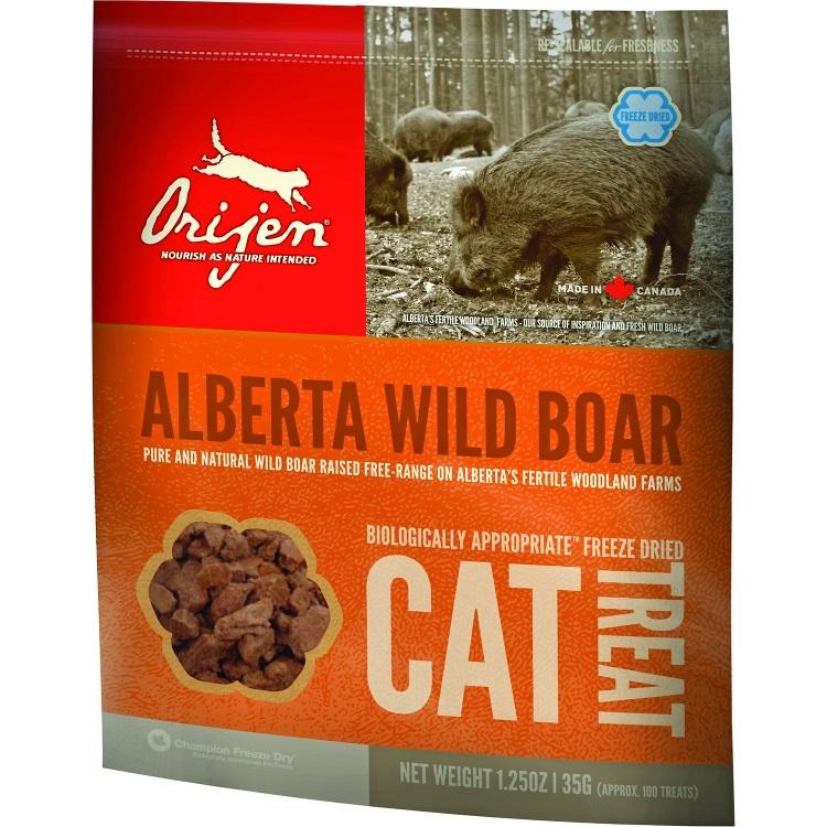 Orijen Grain-Free Alberta Wild Boar Freeze Dried Cat Treats 1.25z