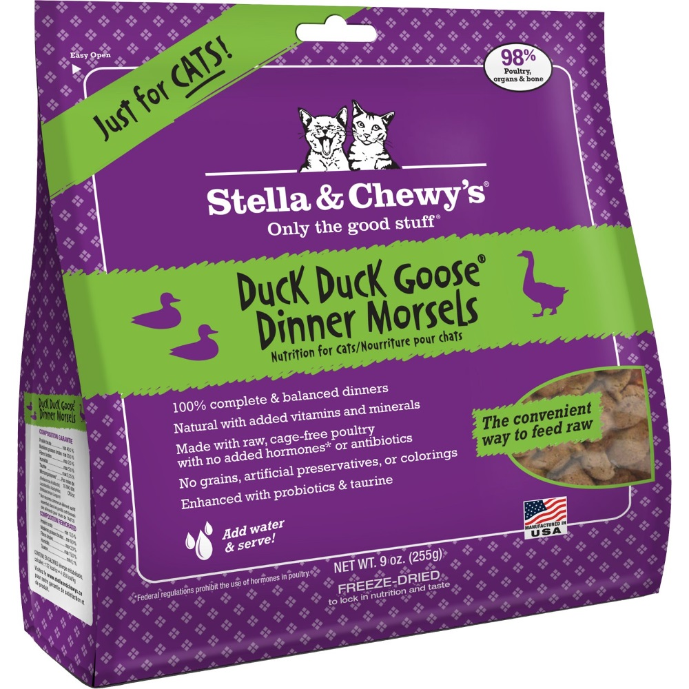 Stella & Chewy's Duck Duck Goose Dinner Raw Freeze Dried Cat Food 9z