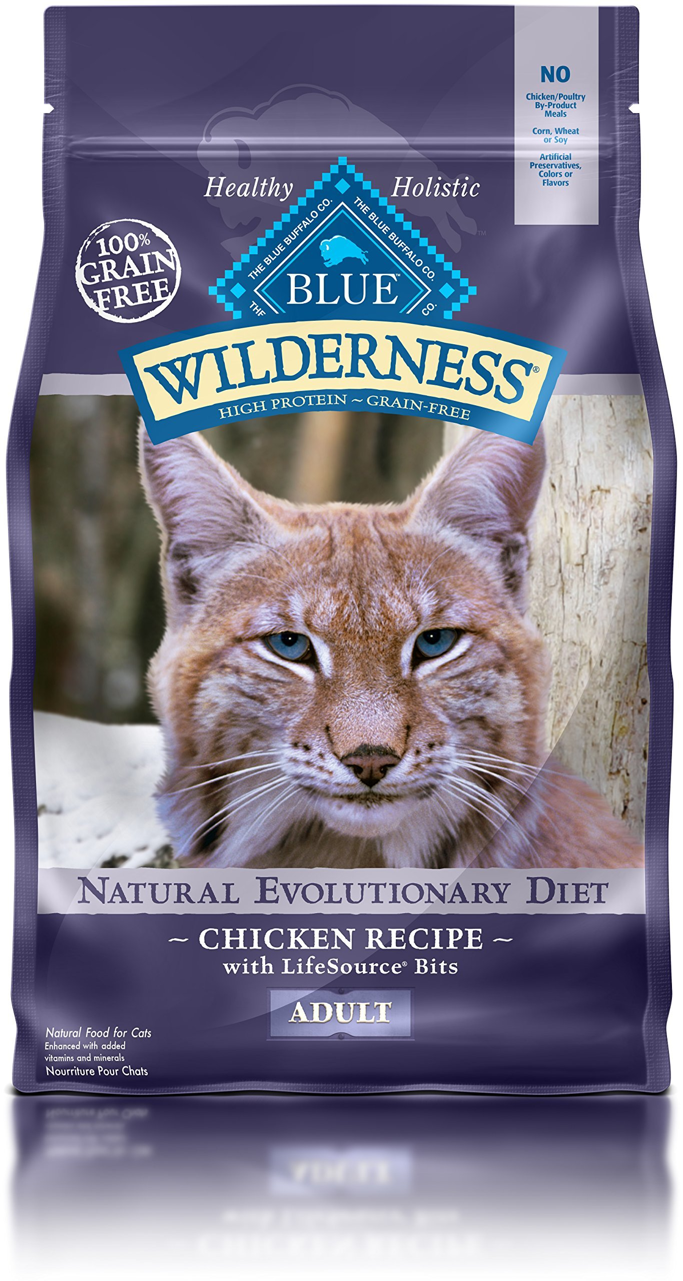 Blue Buffalo Wilderness Chicken Recipe Grain-Free Dry Cat Food 6lbs