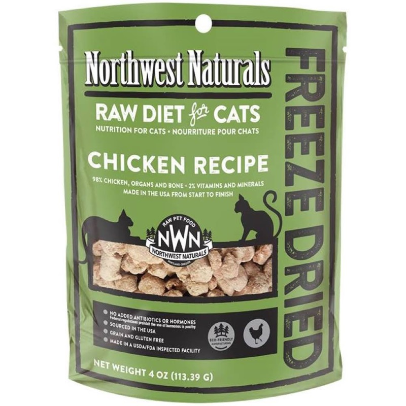 Northwest Naturals Raw Diet Grain-Free Chicken Nibbles Freeze Dried Cat Food 4z