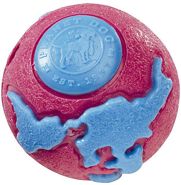 Planet Dog Orbee Ball Dog Toy - Pink/Blue, Small, cs
