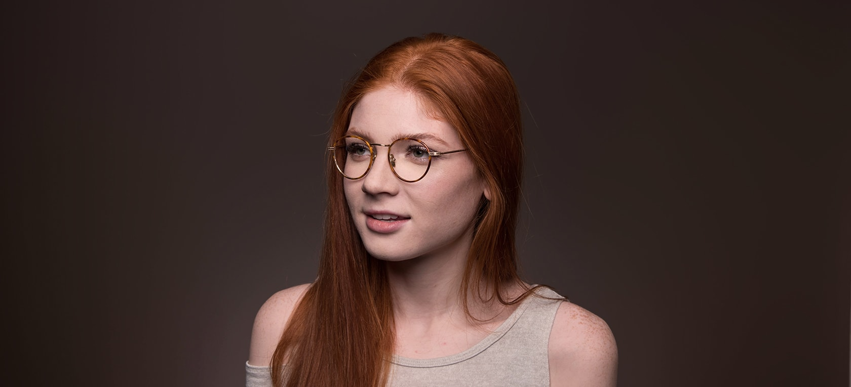 Image of model wearing Singleton frames