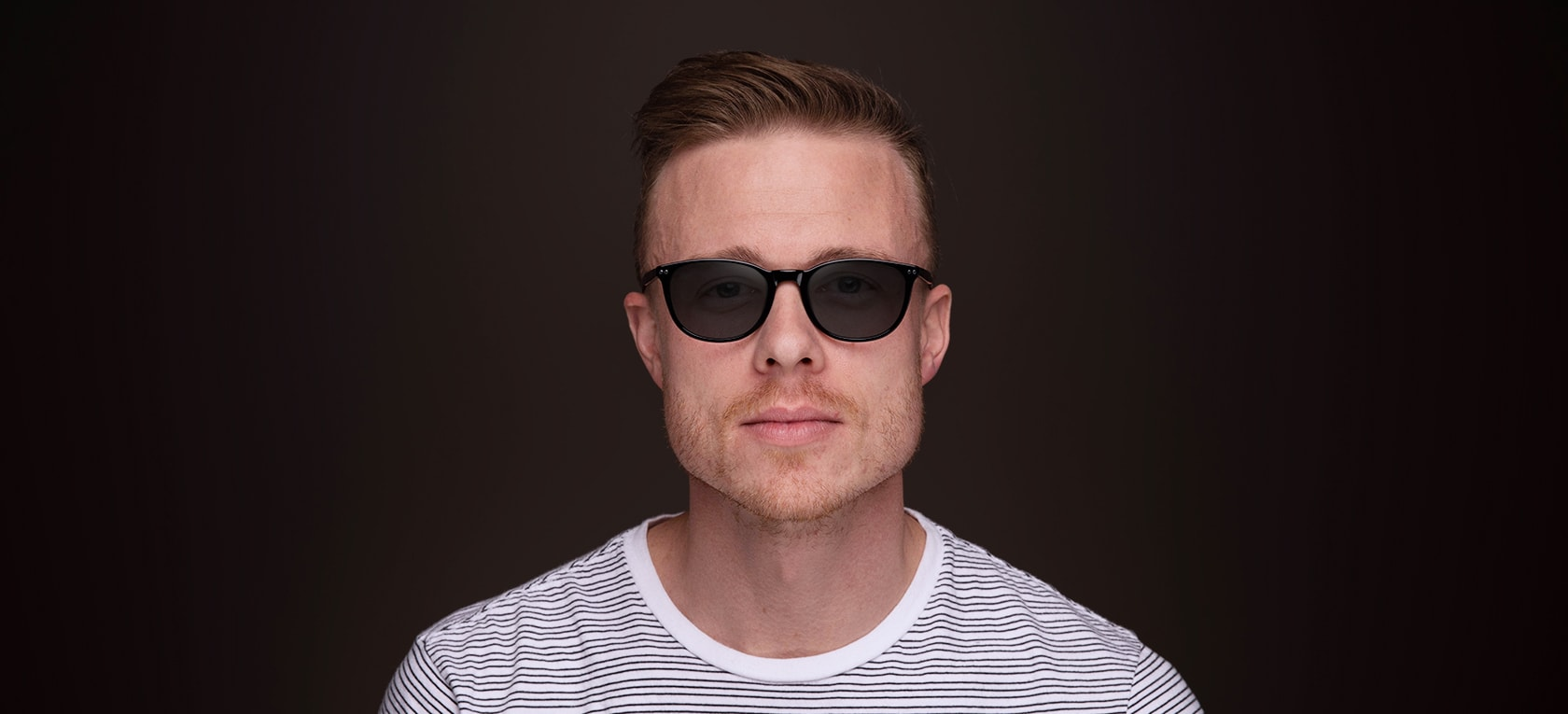 Image of model wearing Heber frames