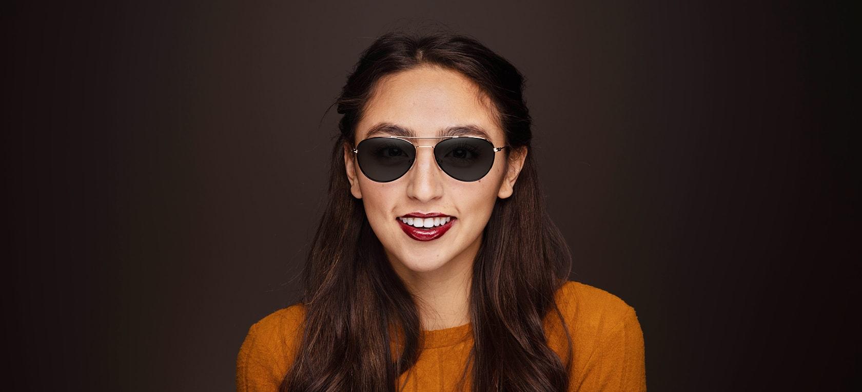 Image of model wearing Ruby frames