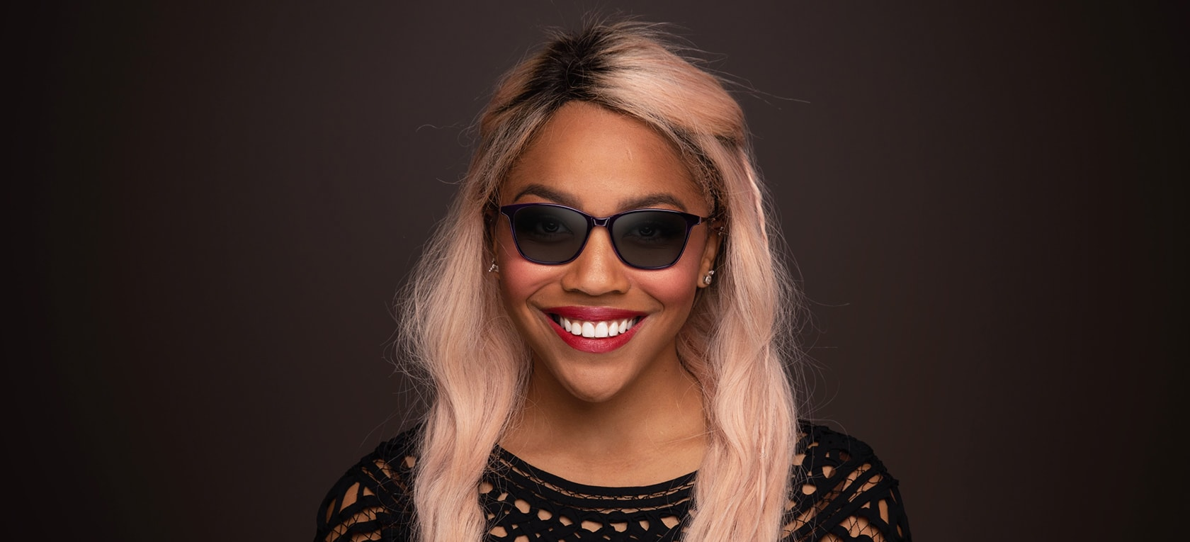 Image of model wearing Siena frames