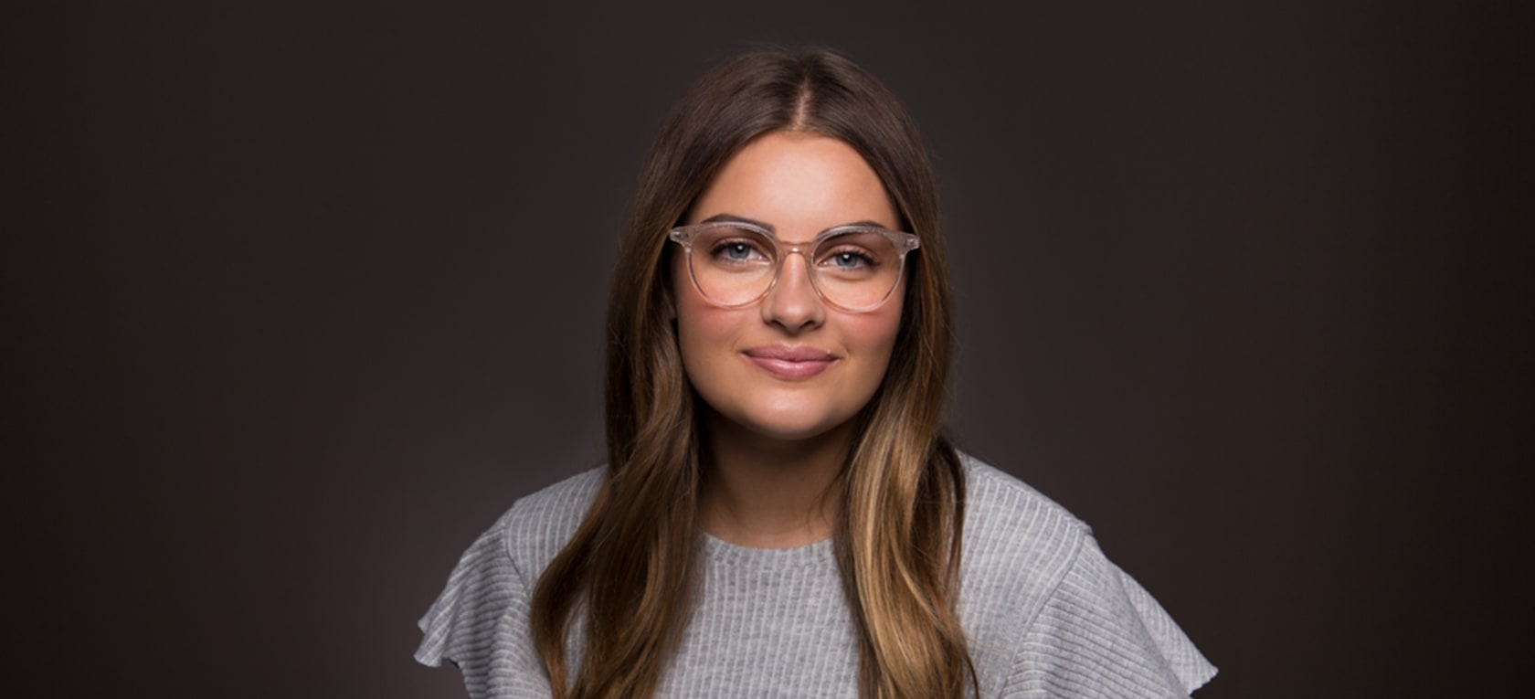 Image of model wearing frame