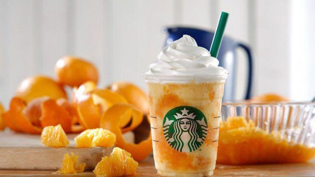 【夏日限定】Starbucks新作!「橙肉星冰樂」