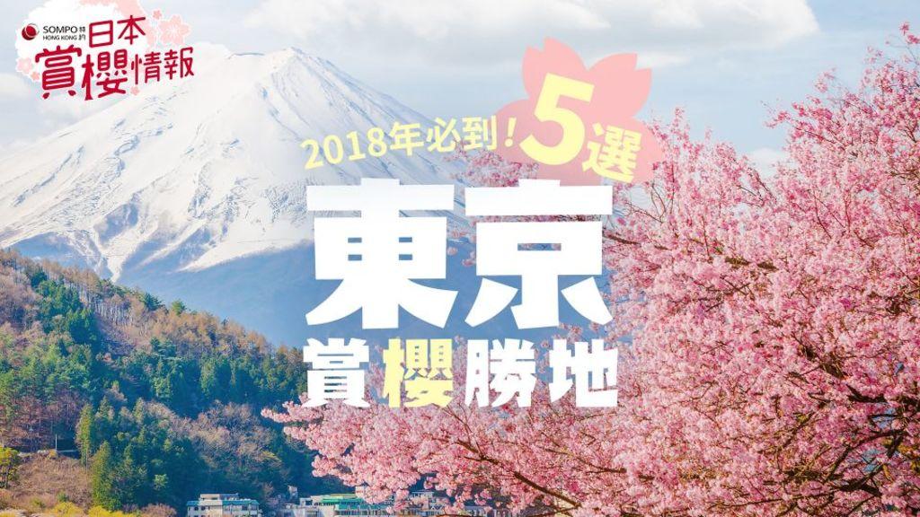 《SOMPOHK 特約:日本賞櫻情報》東京 賞櫻 地點5選! 預備迎接東京櫻花!東京自由行